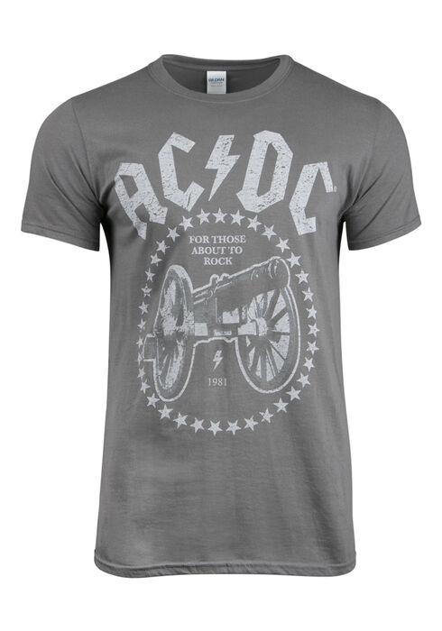 Mens' AC/DC Tee, CHARCOAL, hi-res