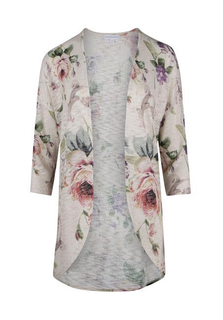 Ladies' Floral Cardigan