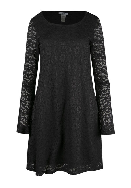 Ladies' Lace Bell Sleeve Dress