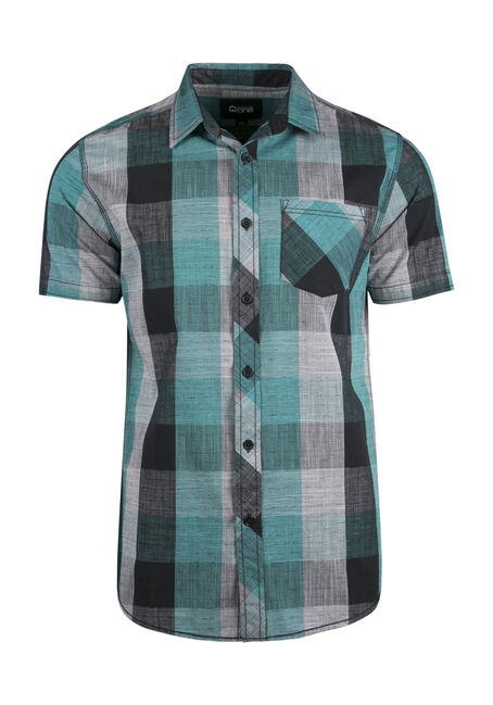 Men's Linear Plaid Shirt