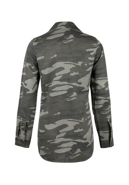 Ladies' Camo Utility Shirt, MILITARY, hi-res