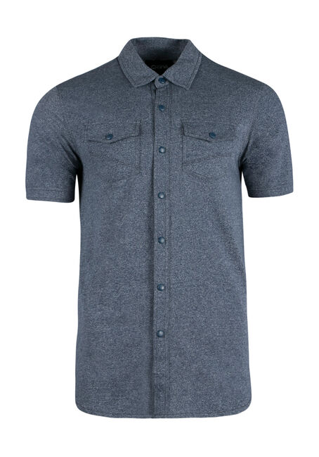 Men's Knit Shirt, BLUE, hi-res