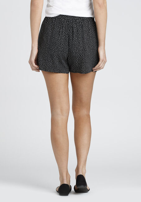 Ladies' Polka Dot Soft Short, BLK/WHT, hi-res
