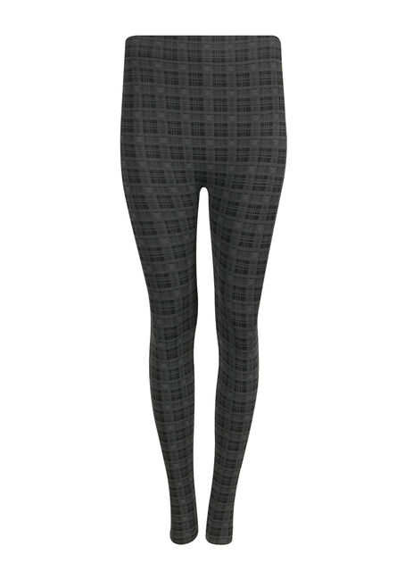 Ladies' Plaid Plush Legging