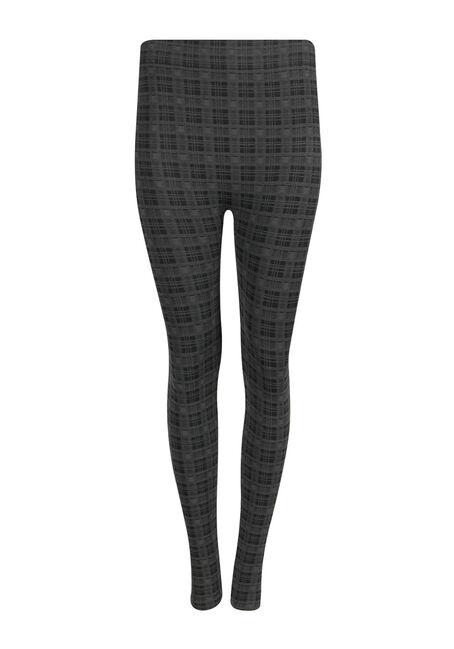 Ladies' Plaid Plush Legging