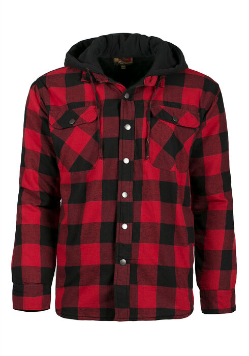 Men's Plaid Jacket, RED, hi-res