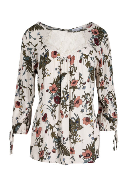 Ladies' Floral Crinkle Lace Top