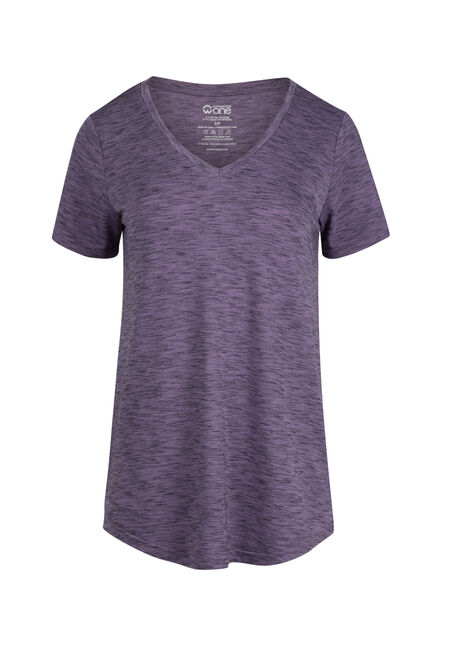Ladies' Space Dye V-Neck Tee