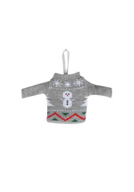 Ladies' Holiday Sweater Ornament Socks, SNOWMAN, hi-res