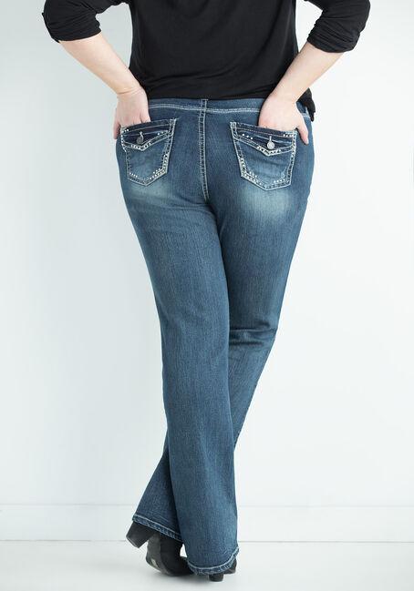 Ladies' Plus Size Contour Boot Jeans, DARK VINTAGE WASH, hi-res