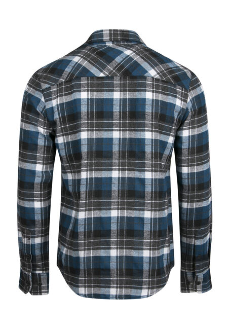 Men's Flannel Shirt, TEAL, hi-res