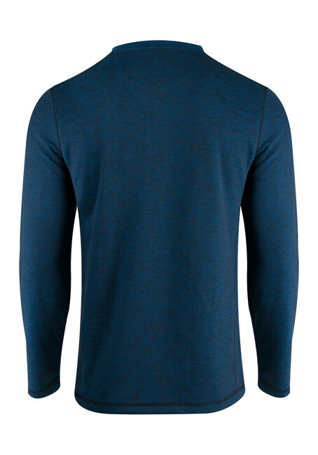 Men's Rib Knit Y-neck Top, ROYAL BLUE, hi-res