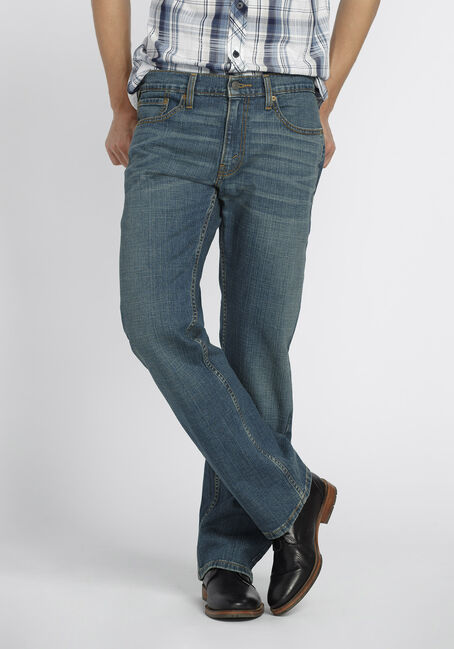 Men's Relaxed Fit Jeans, MEDIUM VINTAGE WASH, hi-res