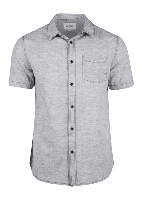 Men's Textured Linen Shirt