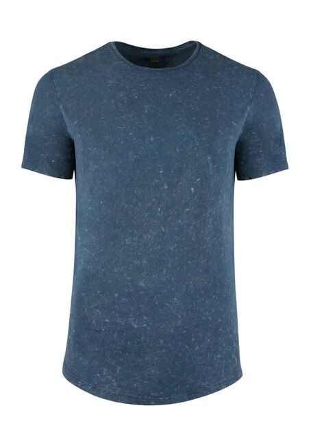 Men's Acid Wash Tee, NAVY, hi-res