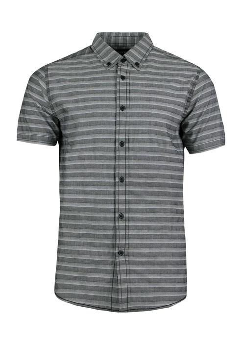 Men's Stripe Shirt, CHARCOAL, hi-res