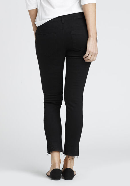 Ladies' Released Hem Skinny Jean, BLACK, hi-res