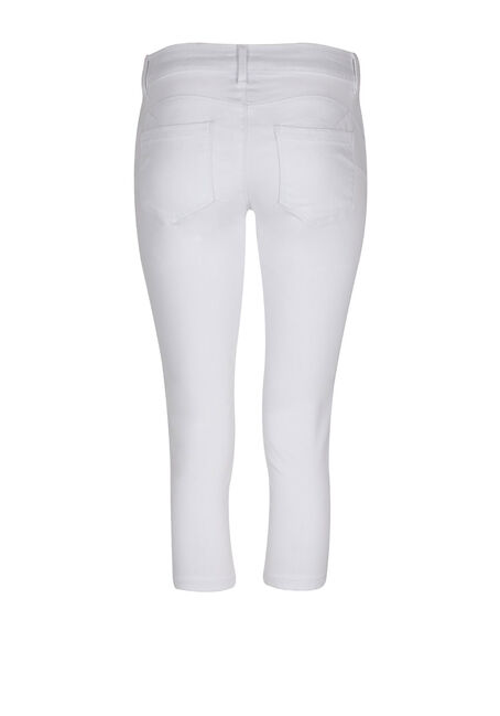 Ladies' Skinny Capri, WHITE, hi-res