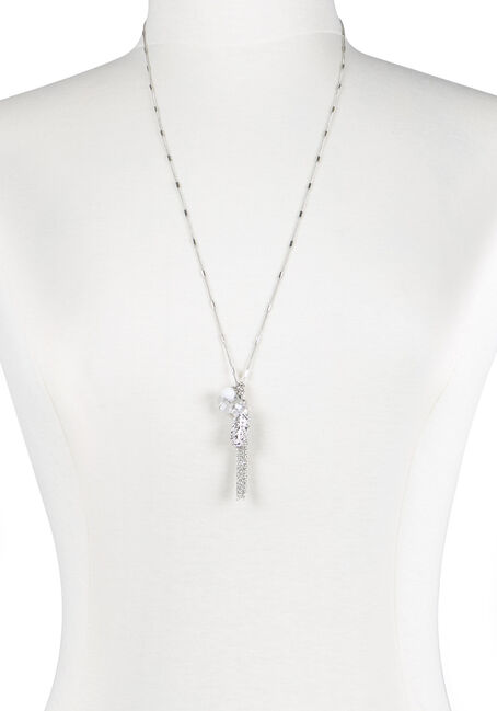 Ladies' Tassel Charm Cluster Necklace