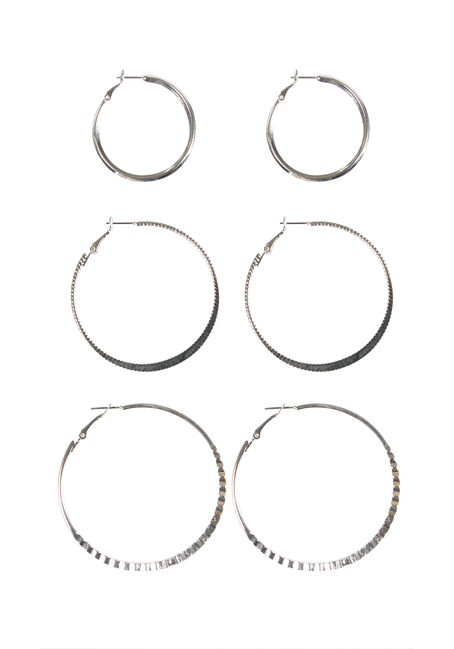 Ladies' Trio Hoop Earrings