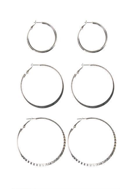 Ladies' Trio Hoop Earrings