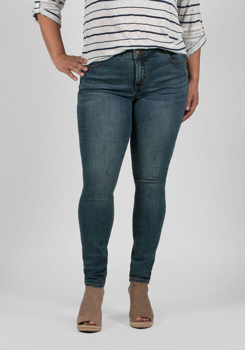 Ladies' Plus Size Skinny Jeans, LIGHT VINTAGE WASH, hi-res