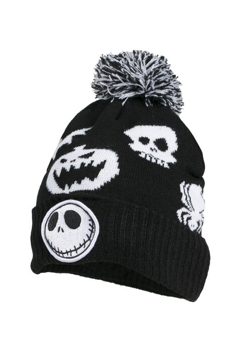 Men's Nightmare Pom Pom Hat, BLACK, hi-res