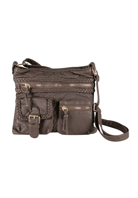 Ladies' Crossbody Bag with Braided Trim
