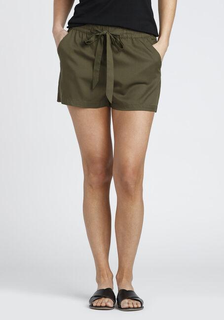 Ladies' tie Front Soft Short