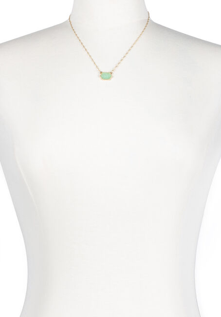 Ladies' Short Mint Gemstone Necklace