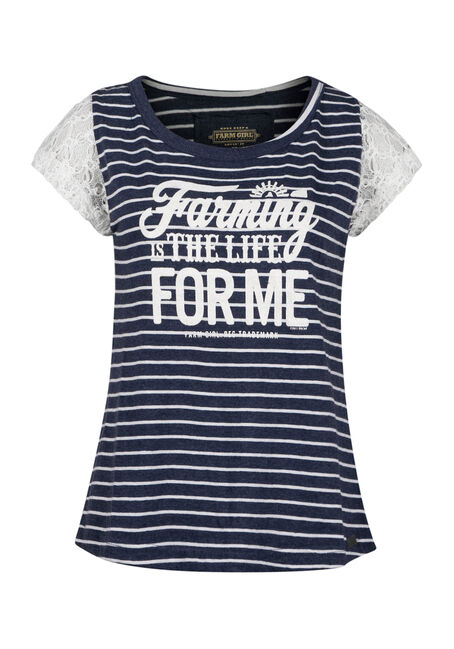 Ladies' Farm Life Tee, NAVY, hi-res