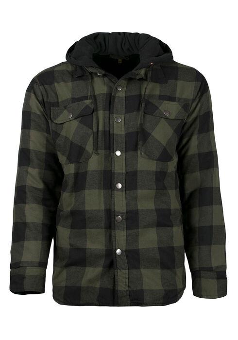 Men's Plaid Jacket, DARK OLIVE, hi-res