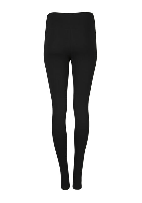 Ladies' High Waist Legging, BLACK, hi-res