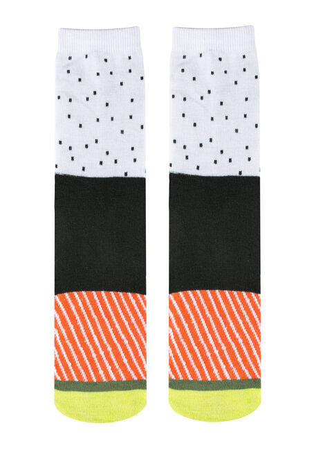 Ladies' Boxed Sushi Socks, BLACK, hi-res