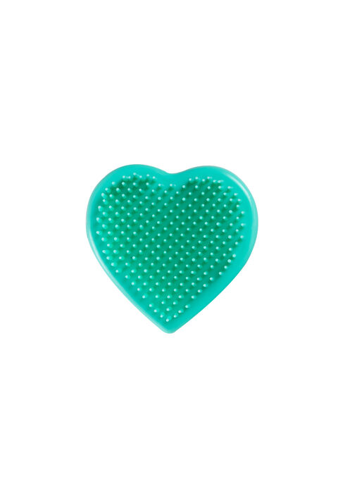 Heart Shaped Detangling Brush, AQUA, hi-res