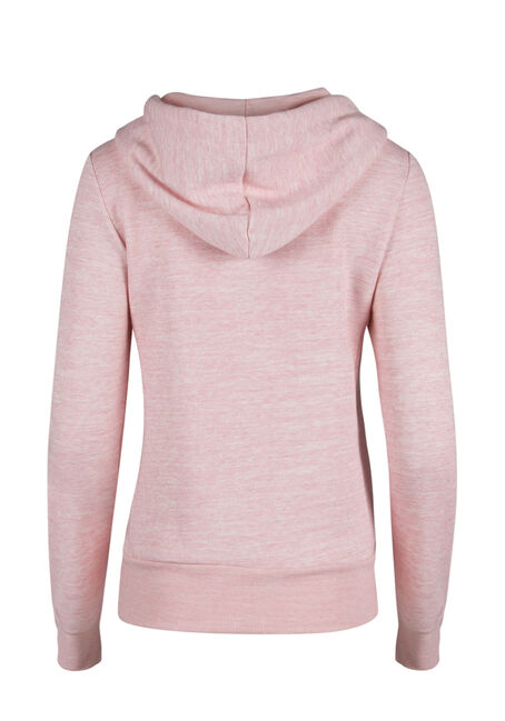 Ladies' Love Zip Front Hoodie, MARLED PINK, hi-res