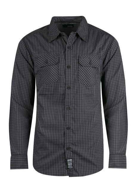 Men's Buffalo Plaid Shirt, BLACK, hi-res