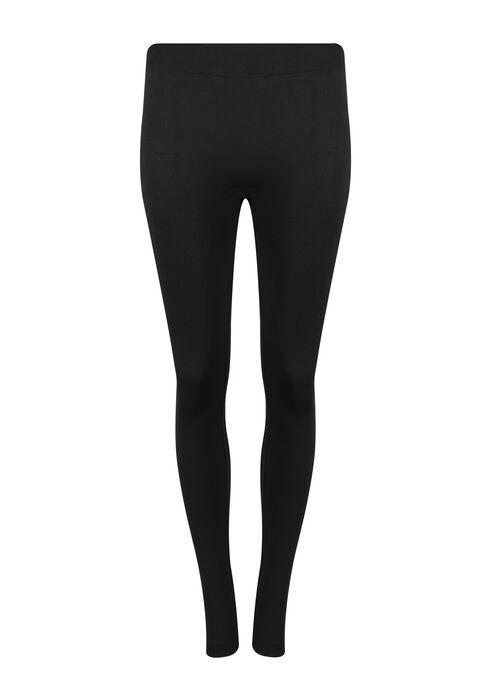 Ladies' Plush Legging, BLACK, hi-res