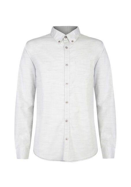 Men's Printed Shirt, WHITE, hi-res