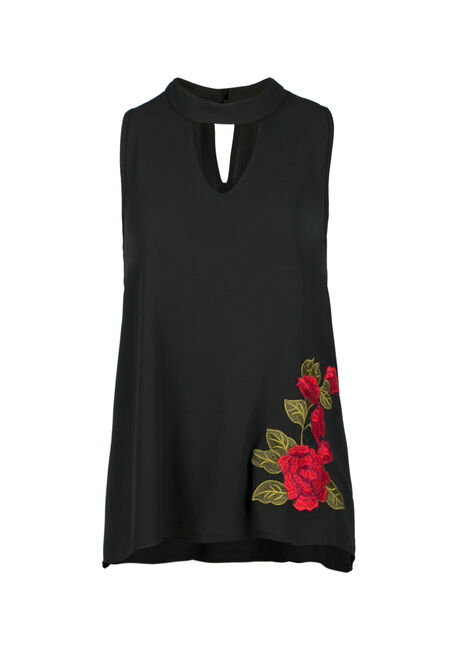 Ladies' Floral Embroidered Tank