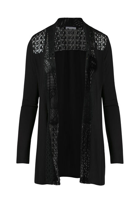 Ladies' Lace Trim Cardigan