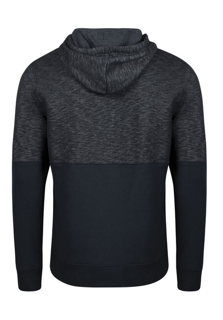 Men's Colour Block Hoodie, INK BLUE, hi-res