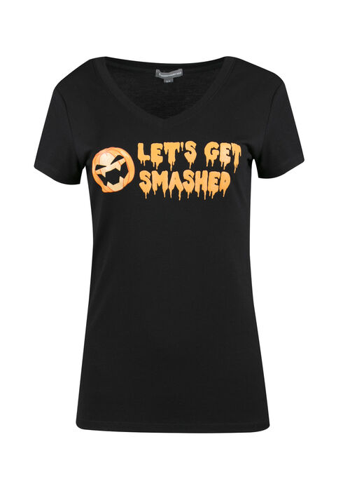 Ladies' Let's Get Smashed Tee, BLACK, hi-res