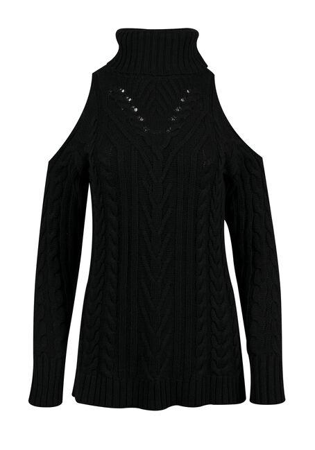 Ladies' Cold Shoulder Sweater