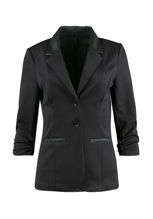 Ladies' Classic Blazer, BLACK, hi-res