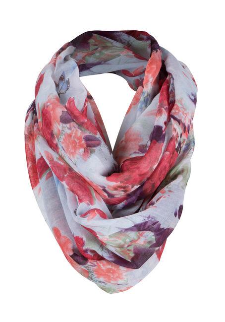 Ladies' Floral Infinity Scarf