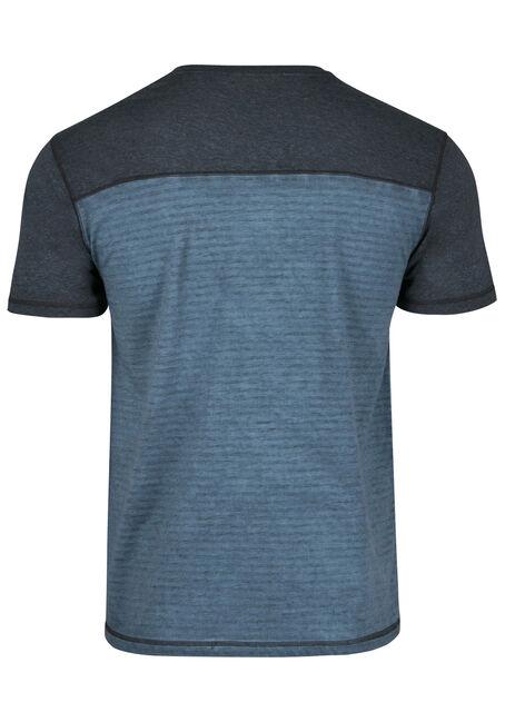 Men's Colour Block Stripe Tee, BLUE STEEL, hi-res
