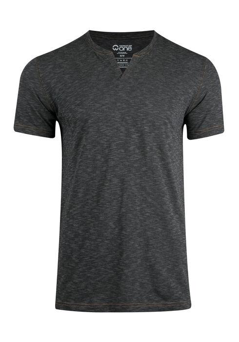 Men's Everyday Split V-neck Tee, CHARCOAL, hi-res