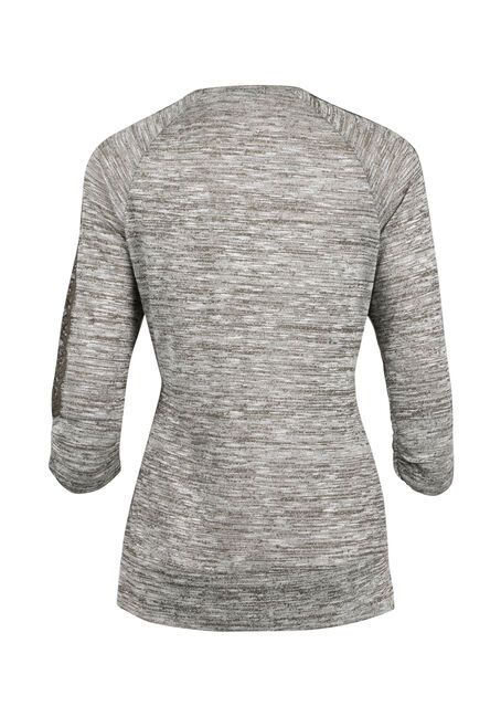 Ladies' Space Dye Top, MILITARY, hi-res