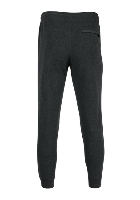Men's Fleece Jogger, CHARCOAL, hi-res